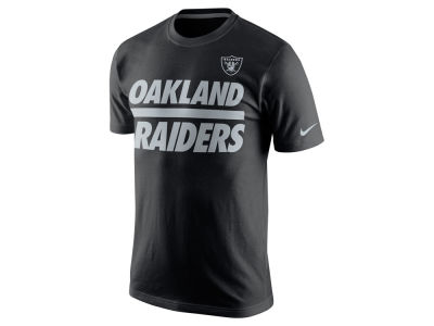 Oakland Raiders Nike NFL Men's Team Stripe T-Shirt