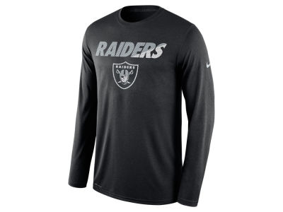 Oakland Raiders Nike NFL Men's Legend Staff Practice Long Sleeve T-Shirt