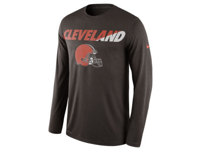 Cleveland Browns Nike NFL Men's Legend Staff Practice Long Sleeve T-Shirt