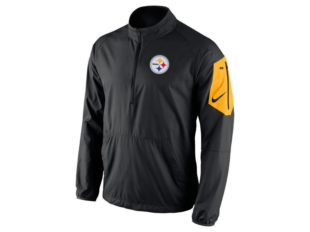 Pittsburgh Steelers Nike NFL Men s Lockdown Half Zip Jacket  83868bded