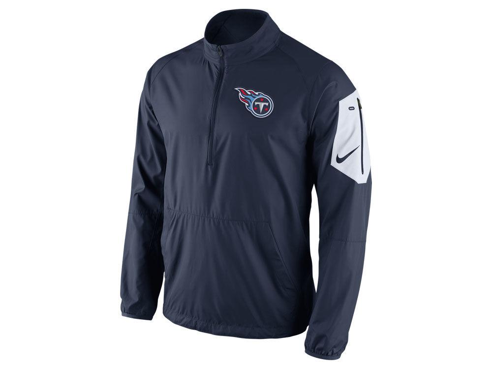 Tennessee Titans Nike NFL Men s Lockdown Half Zip Jacket  a2cdd4291