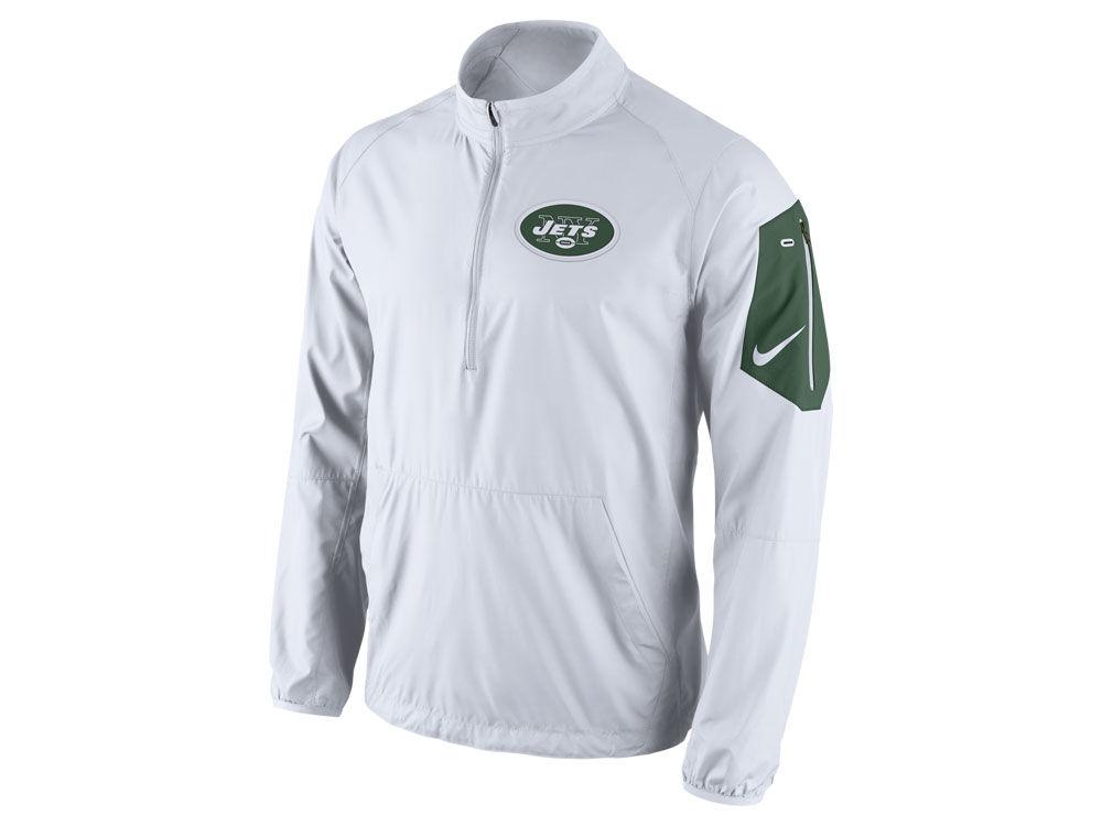 New York Jets Nike NFL Men s Lockdown Half Zip Jacket  3bfaf4777