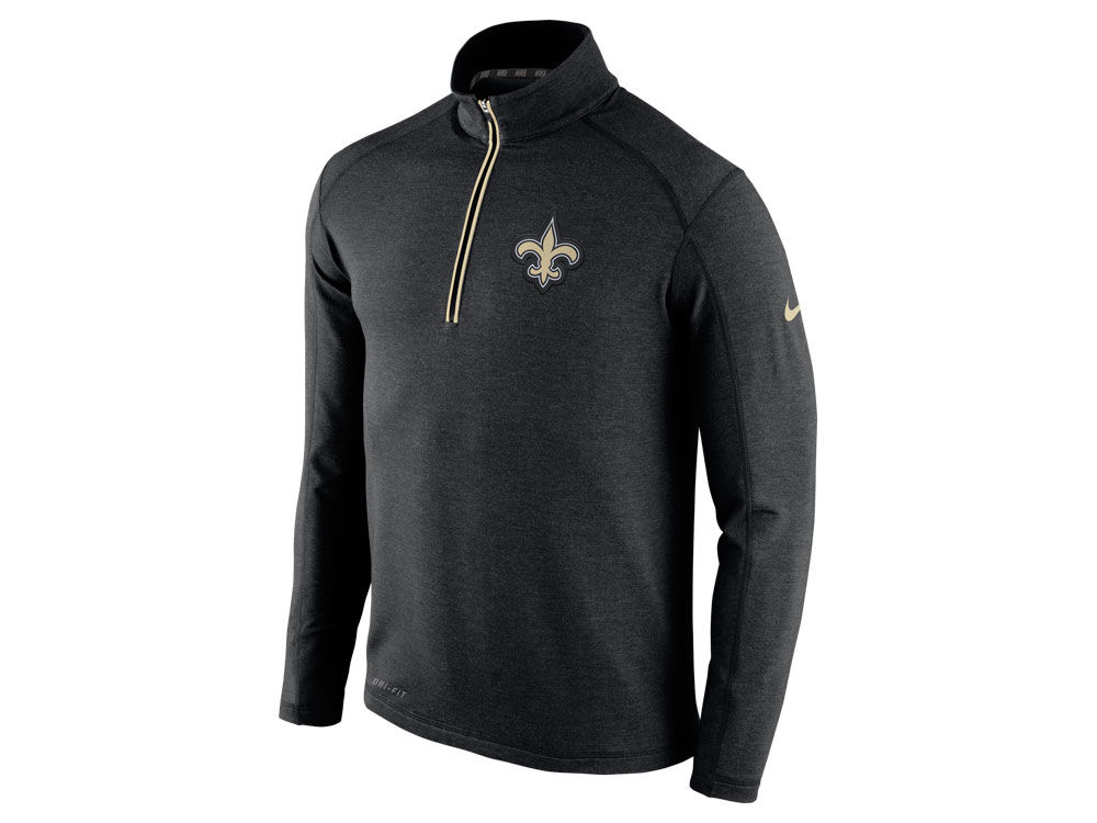 30d03470b New Orleans Saints Nike NFL Men s Game Day 1 4 Zip Knit Jacket ...