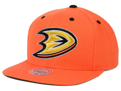Anaheim Ducks Mitchell and Ness NHL Current XL Logo Solid Snapback Cap