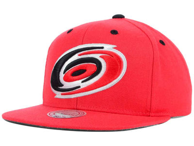 Carolina Hurricanes Mitchell and Ness NHL Current XL Logo Solid Snapback Cap