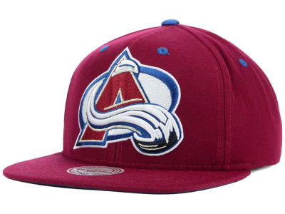 Colorado Avalanche Mitchell and Ness NHL Current XL Logo Solid Snapback Cap