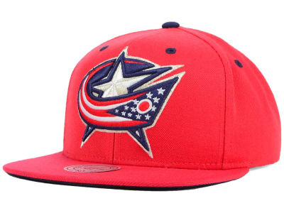 Columbus Blue Jackets Mitchell & Ness NHL Current XL Logo Solid Snapback Cap