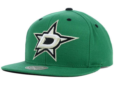 Dallas Stars Mitchell and Ness NHL Current XL Logo Solid Snapback Cap