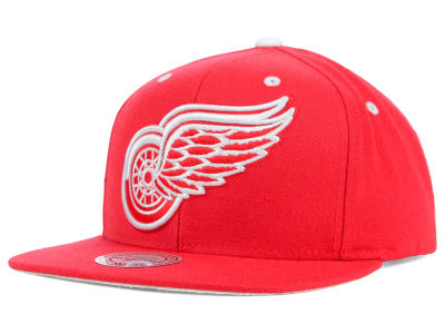 Detroit Red Wings Mitchell and Ness NHL Current XL Logo Solid Snapback Cap