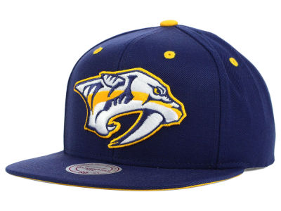 Nashville Predators Mitchell and Ness NHL Current XL Logo Solid Snapback Cap