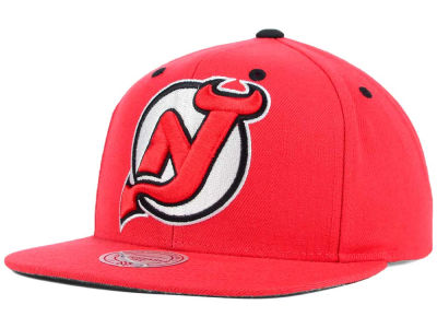 New Jersey Devils Mitchell and Ness NHL Current XL Logo Solid Snapback Cap