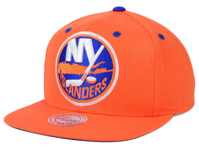 New York Islanders Mitchell and Ness NHL Current XL Logo Solid Snapback Cap