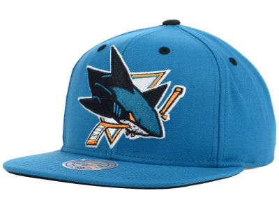 San Jose Sharks Mitchell and Ness NHL Current XL Logo Solid Snapback Cap