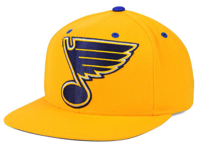 St. Louis Blues Mitchell and Ness NHL Current XL Logo Solid Snapback Cap