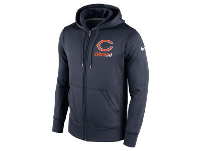 Chicago Bears Nike NFL Men's Sideline KO Fleece Full Zip Hoodie
