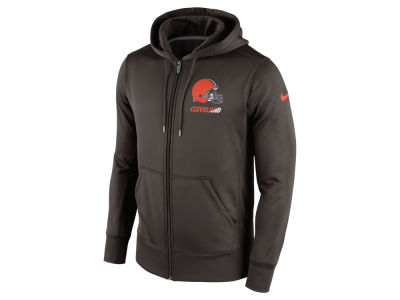 Cleveland Browns Nike NFL Men's Sideline KO Fleece Full Zip Hoodie