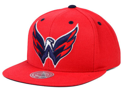 Washington Capitals Mitchell and Ness NHL Current XL Logo Solid Snapback Cap