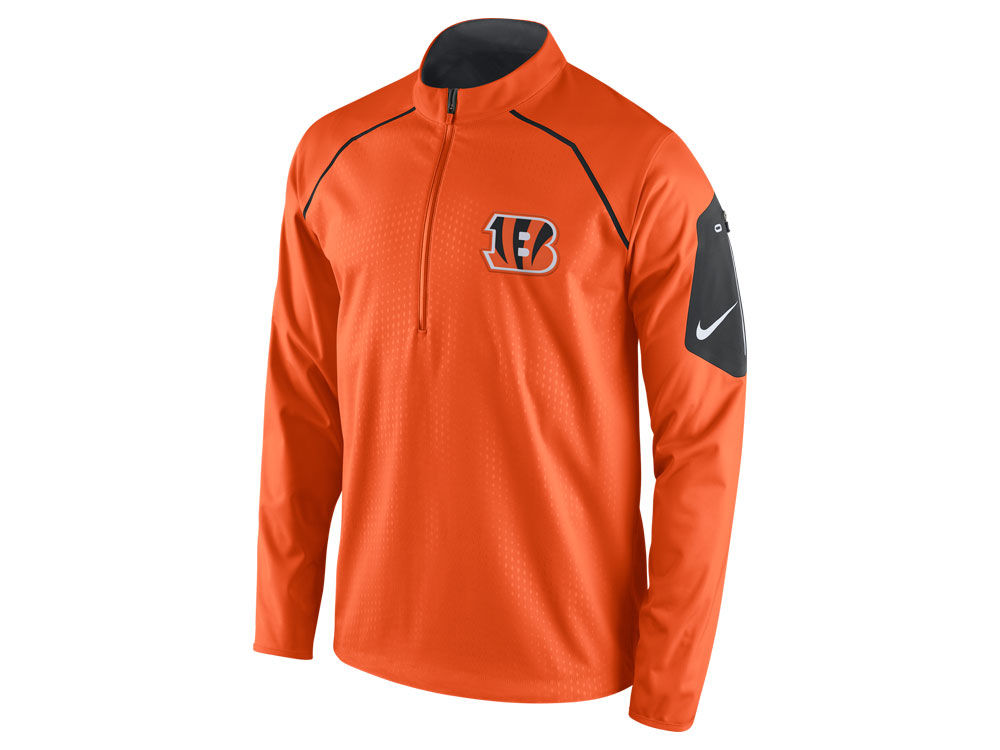 85a0ec26e Cincinnati Bengals Nike NFL Men s Alpha Fly Rush 1 4 Zip Jacket ...