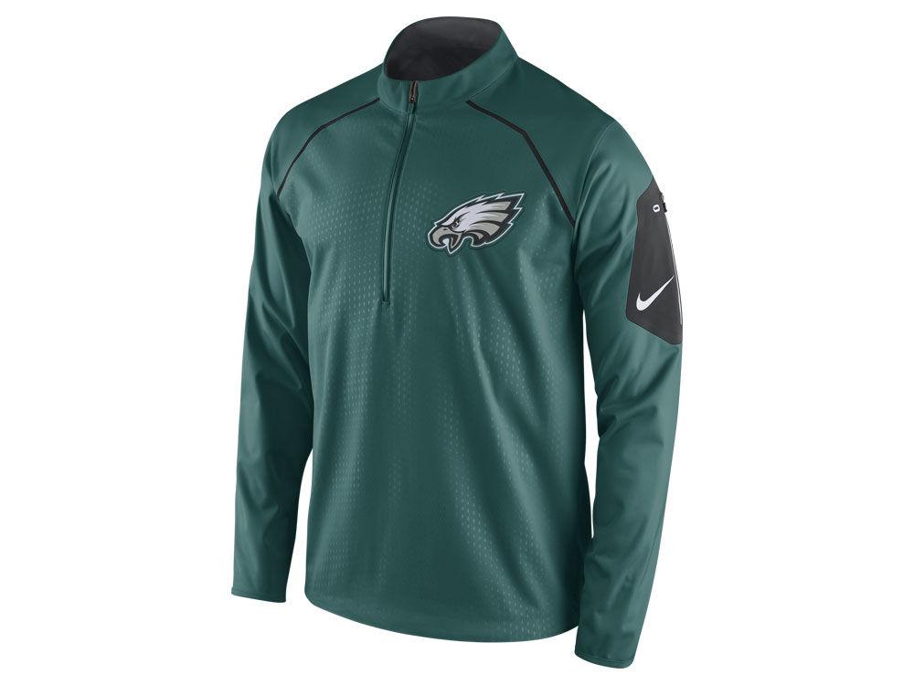 Philadelphia Eagles Nike NFL Men s Alpha Fly Rush 1 4 Zip Jacket ... c0d86486d