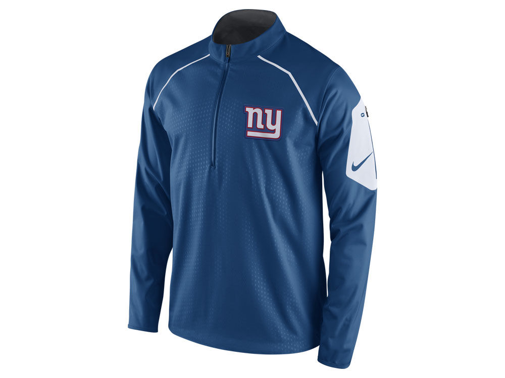 New York Giants Nike NFL Men s Alpha Fly Rush 1 4 Zip Jacket  d5b458c5a