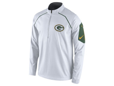 Green Bay Packers Nike NFL Men's Alpha Fly Rush 1/4 Zip Jacket