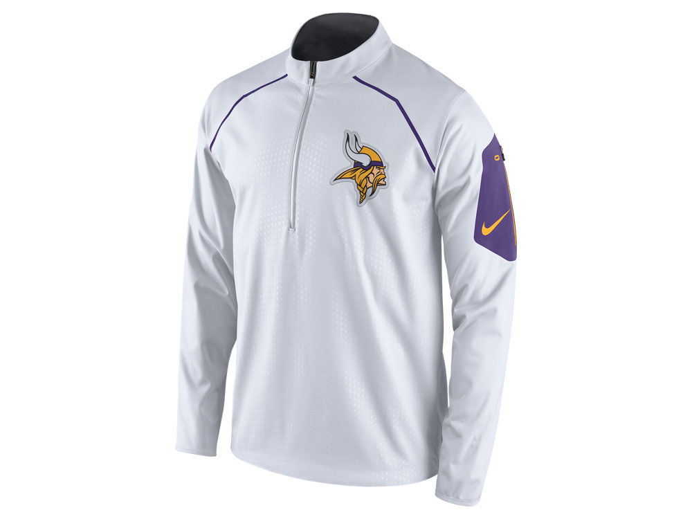 cd997374740 Minnesota Vikings Nike NFL Men's Alpha Fly Rush 1 4 Zip Jacket ...