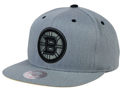 Boston Bruins Mitchell and Ness NHL Broad Street Snapback Cap