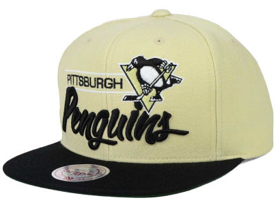 Pittsburgh Penguins Mitchell and Ness NHL City Bar Snapback Cap