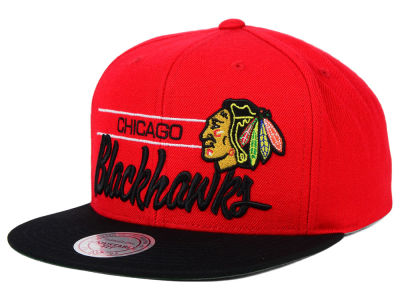 Chicago Blackhawks Mitchell and Ness NHL City Bar Snapback Cap
