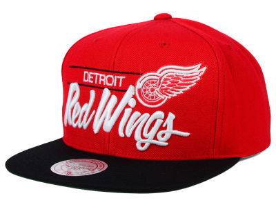 Detroit Red Wings Mitchell and Ness NHL City Bar Snapback Cap