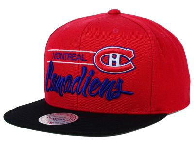 Montreal Canadiens Mitchell and Ness NHL City Bar Snapback Cap