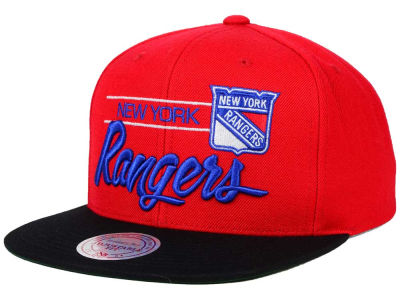 New York Rangers Mitchell and Ness NHL City Bar Snapback Cap