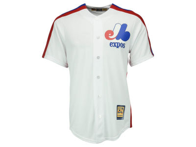 Montreal Expos Majestic MLB Men's Cooperstown Blank Replica Cool Base Jersey
