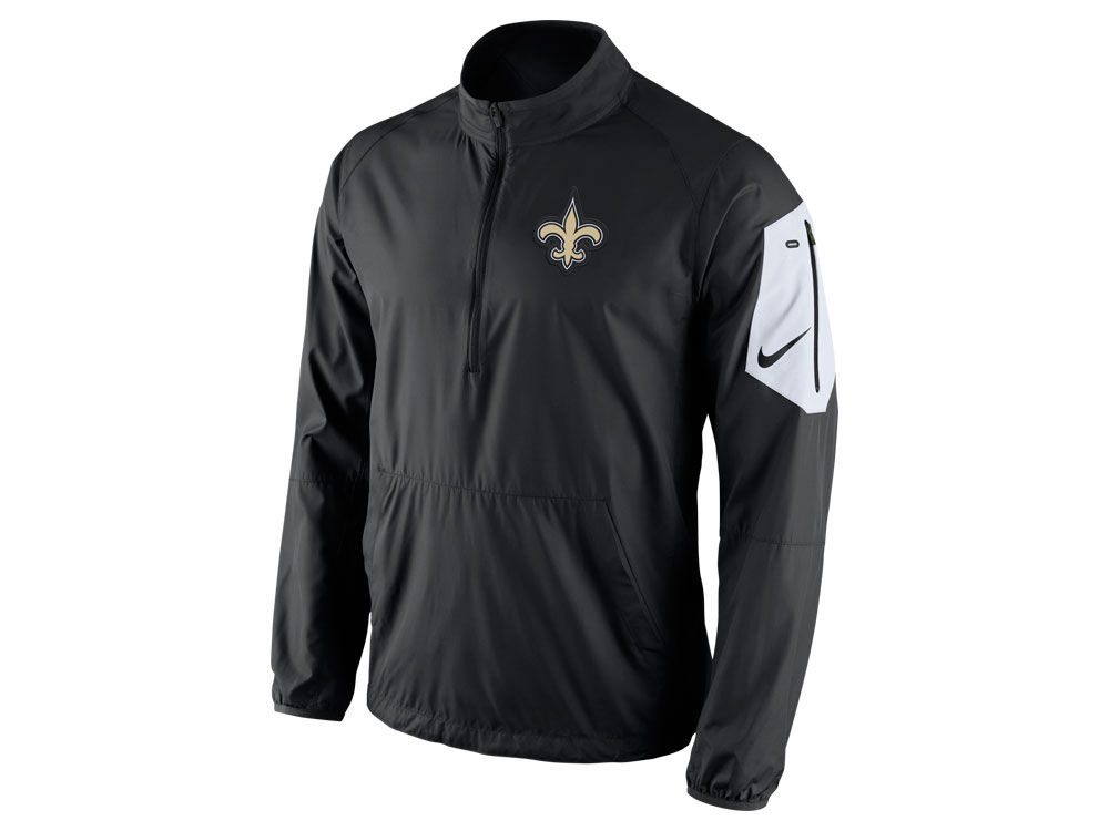 f69e7b80c New Orleans Saints Nike NFL Men s Lockdown Half Zip Jacket