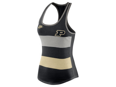 Purdue Boilermakers Nike NCAA Women's Tri Team Stripe Tank