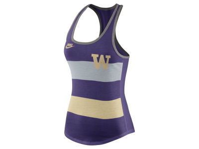 Washington Huskies Nike NCAA Women's Tri Team Stripe Tank