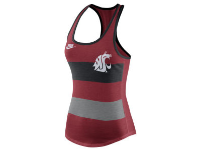 Washington State Cougars Nike NCAA Women's Tri Team Stripe Tank