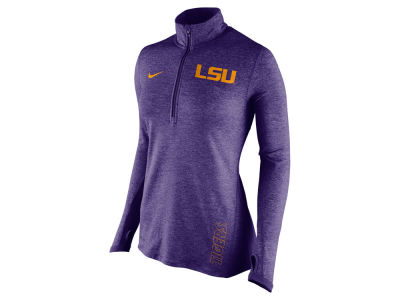 LSU Tigers Nike NCAA Women's Stadium Element 1/4 Zip Pullover Shirt