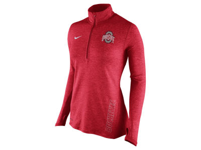 Ohio State Buckeyes Nike NCAA Women's Stadium Element 1/4 Zip Pullover Shirt