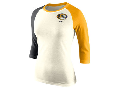 Missouri Tigers Nike NCAA Women's Tri Strong Raglan T-Shirt