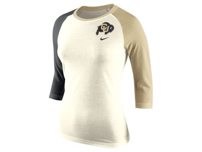 Colorado Buffaloes Nike NCAA Women's Tri Strong Raglan T-Shirt