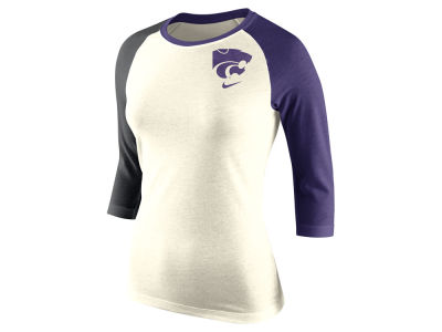 Kansas State Wildcats Nike NCAA Women's Tri Strong Raglan T-Shirt