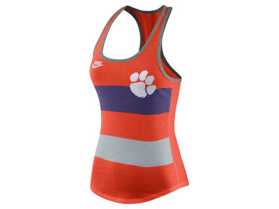Clemson Tigers Nike NCAA Women's Tri Team Stripe Tank