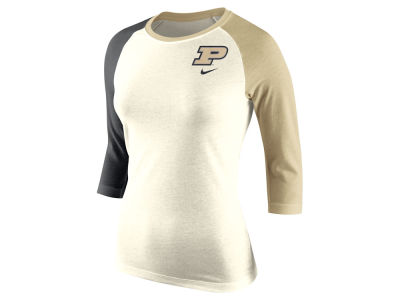 Purdue Boilermakers Nike NCAA Women's Tri Strong Raglan T-Shirt