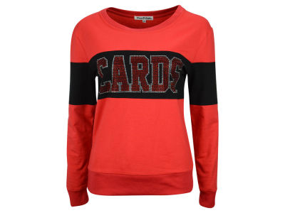 Louisville Cardinals NCAA Women's Bling Mascot Color Block Long Sleeve Shirt