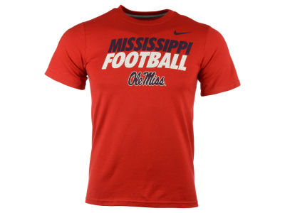 Ole Miss Rebels Nike NCAA Youth Football Cotton Practice T-Shirt