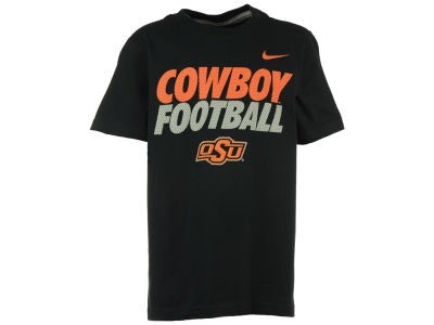 Oklahoma State Cowboys Nike NCAA Youth Football Cotton Practice T-Shirt