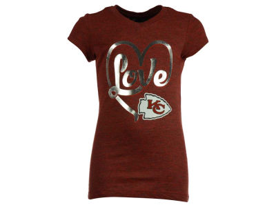 Kansas City Chiefs 5th & Ocean NFL Youth Love T-Shirt