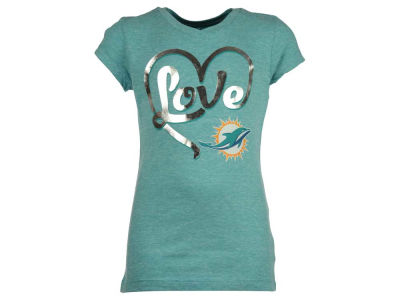Miami Dolphins 5th & Ocean NFL Youth Love T-Shirt