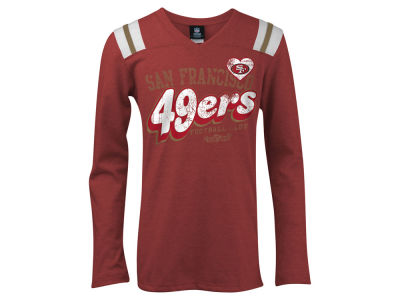 San Francisco 49ers 5th & Ocean NFL Youth Long Sleeve Triblend T-Shirt